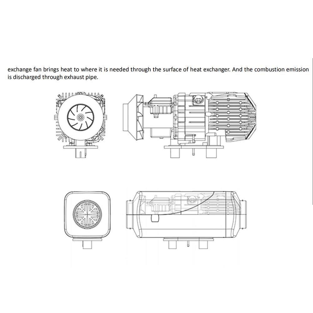10L Tank Schiff Diesel-Nachtheizung f/ür Camping 12V 5KW Auto Diesel-Lufterhitzer mit LCD-Display und Fernbedienung Auto Bus LKW Standheizung