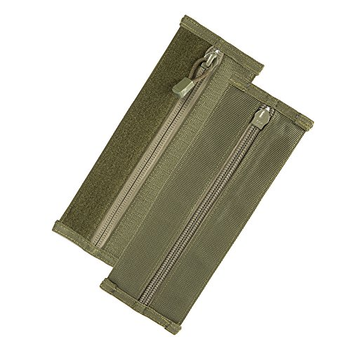 Condor Vanquish Armor System Accessories Zipper Strip, 2 Pieces per Pack, Olive Drab