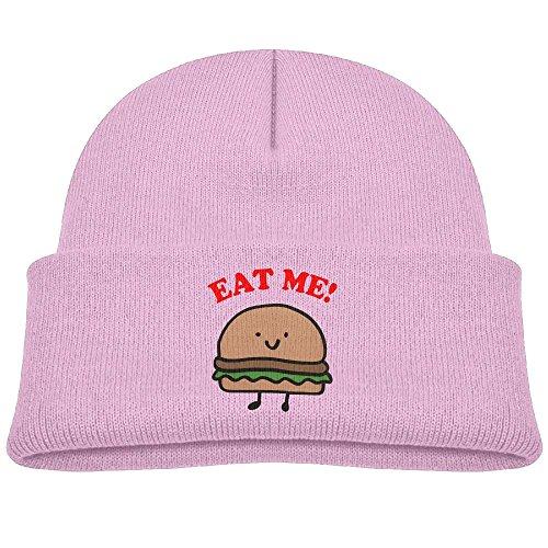 Pink Seattle Mariners Sweatshirt (Tongbu Eat The Hamburger Kids Winter Warm Knitted Hat Fashion Wool Caps Beanie children Girls Boys Knit Cap Pink)