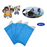 Toilet Urine Bag 8pcs Emergency Pee Bag Disposable Urinal Eco-friendly Solidification Urine Prevent Stink Super Absorbent Packs for Outdoor Camping Hiking Traffic Jam Child Adult Unisex