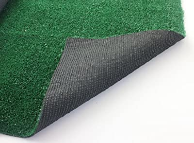 12'x9' LAWN GREEN INDOOR/OUTDOOR ARTIFICIAL TURF GRASS CARPET RUG WITH A MARINE BACKING by Beaulieu.