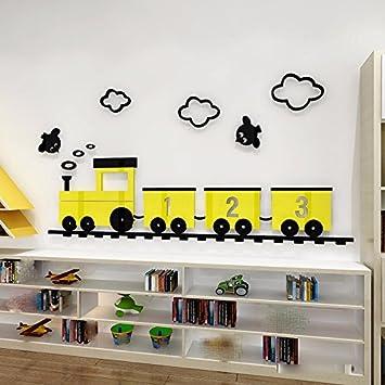 Amazon.de: GOUZI Kreative Cartoon Mini-Zug Vogel Acryl 3D Kinder ...