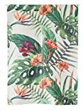 Liveinu Linen Cloth Japanese Style Noren Doorway Curtain 33.5″ x 47.2″ with Tension Rod Tia Flowers Review