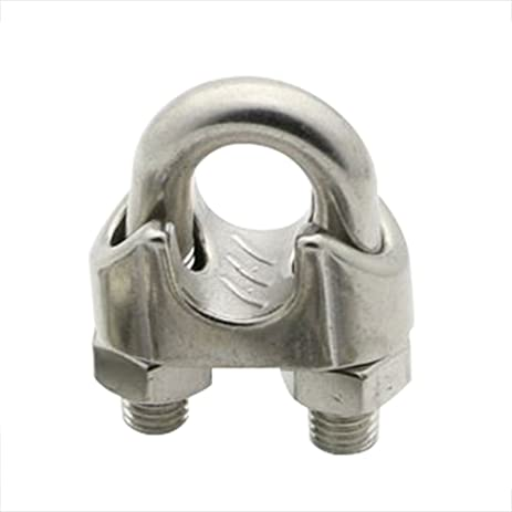 CENDA Wire Rope Clip, Wire Rope Clamp, Cable Clamps - 5 Pack ...