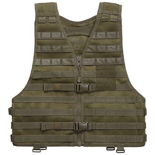 - 5.11 LBE Tactical Vest with MOLLE for Paintball Airsoft Hiking Hunting, Style 58631, TAC OD, XX-Large