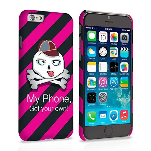 Caseflex iPhone 6 Plus / 6S Plus Hülle Rosa / Schwarz Gestreift Totenkopf Hart Schutzhülle (Kompatibel Mit iPhone 6 Plus / 6S Plus - 5.5 Zoll)
