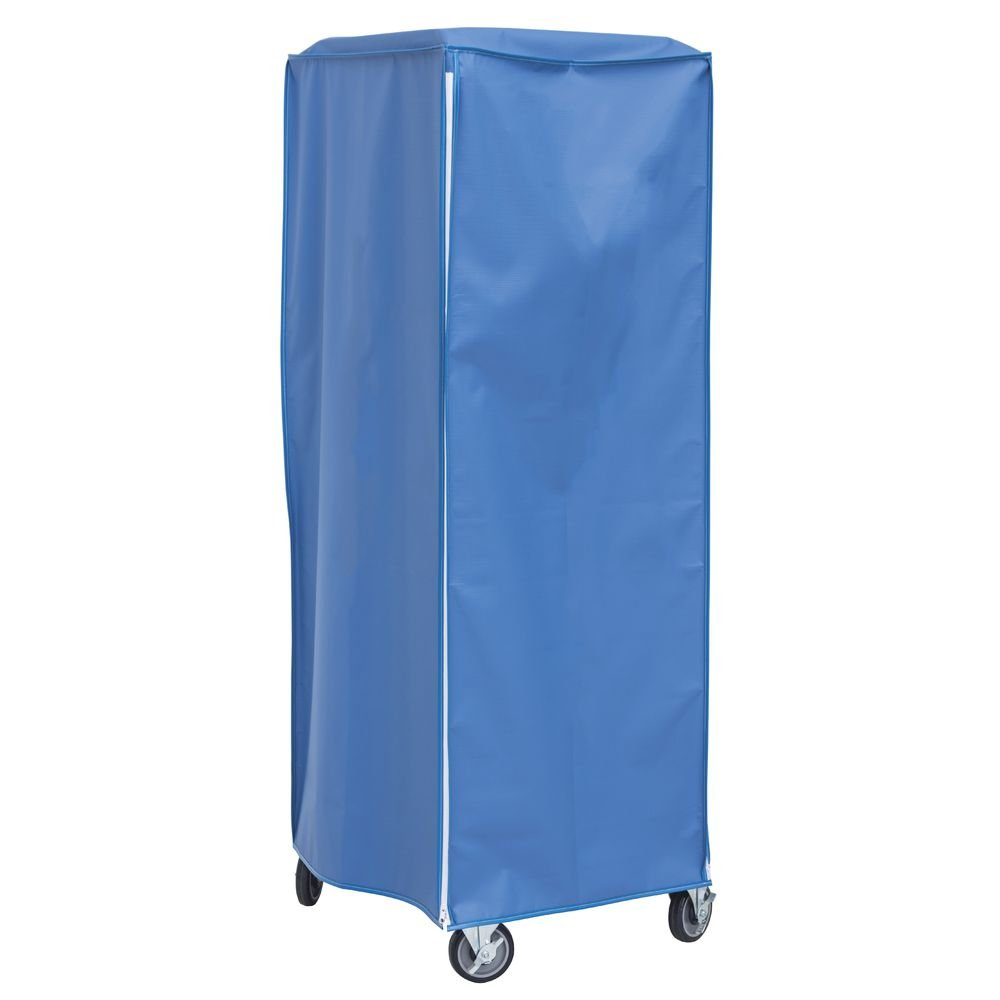 Coverall Worcester Blue Vinyl Heavy-Duty Freezer Pan Rack Cover - 28''L x 23''W x 64''H