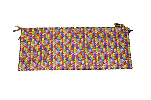 """Autism Awareness Puzzle Piece Fabric 3"""" Foam Cushion for ..."""