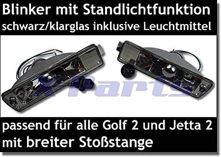 X-Parts 2 Frontblinker Blinker Standlichtfunktion 1030070 SCHWARZ