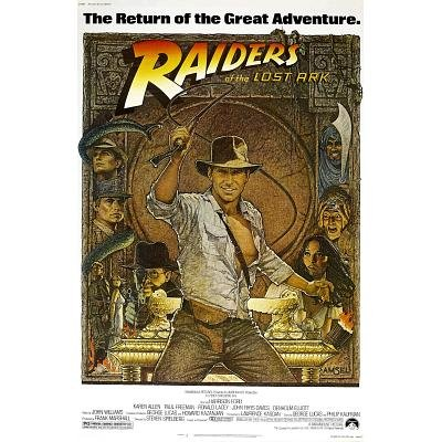 (11x17) Raiders of the Lost Ark - Harrison Ford Credits Movie Poster