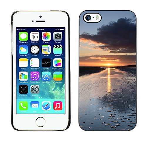 Premio Sottile Slim Cassa Custodia Case Cover Shell // F00029323 La marée de Matin // Apple iPhone 5 5S 5G