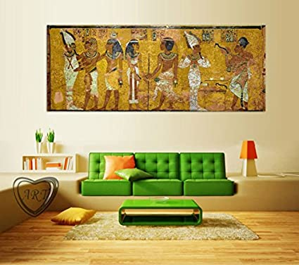 Amazon.com: Egyptian Decor Canvas Painting Oil Painting Wall ...