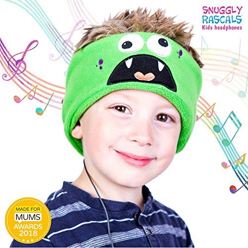 Snuggly Rascals (v2) Kids Headphones - Headphones for Kids - Comfortable, Adjustable and Volume Limited - Great for Travel & Children's Tablets and Smartphones - for Girls and Boys - Fleece - Monster