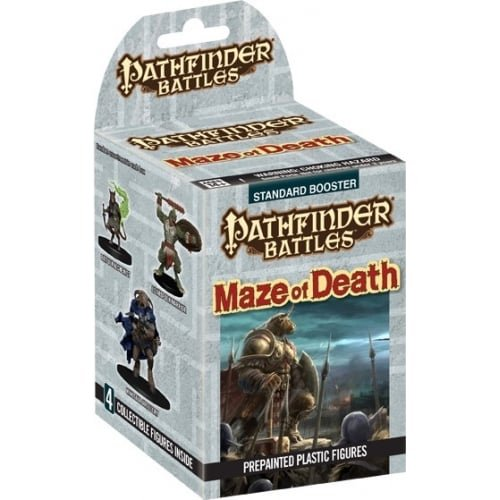 - Pathfinder Battles Maze of Death miniatures booster box (4 painted minis) WZK73036