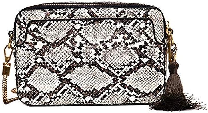 Naliovker Nouveau Peau de Serpent Petit Sac Carré Simple