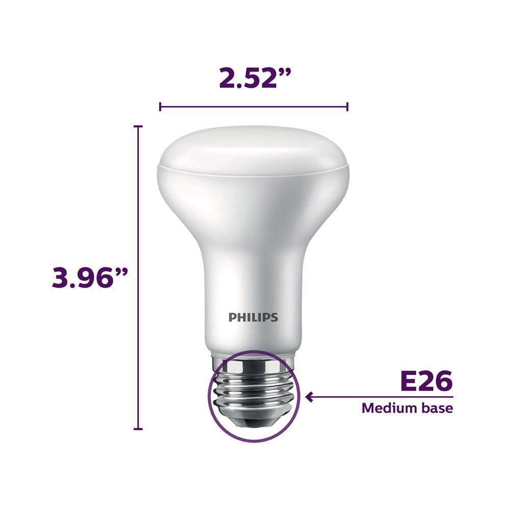 E26 Base California Residents Only 6-Pack Frosted 45-Watt Equivalent 2200-2700-Kelvin Philips LED Dimmable BR20 Soft White Light Bulb with Warm Glow Effect 450-Lumen 6-Watt