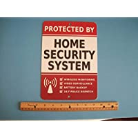 Home Security Alarm System 7 x 10 Metal Yard Sign - Stock # 703