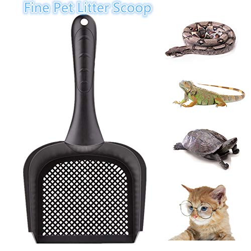 Bestmemories Cat Litter Scoop Reptile Terrarium Sand Fine Scoop Pet Poo Shovel Cat Scooper Little Sifter Scoop Kitty Litter Shovel Scoop Pet Reptile Terrarium Bedding Litter Cleaner Scoop Net Shovel