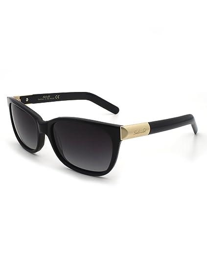 f0dc362d932 SunCristal Women Acetate Rectangle Polarized UV400 Lens Sunglasses 1105  (Black