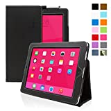 iPad 1 Case - Snugg - Black Leather Smart Case Cover Apple iPad 1 Protective Flip Stand Cover with Auto Wake Sleep