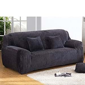 Amazon.com: Felpa Elástico de grosor funda para sofá, color ...