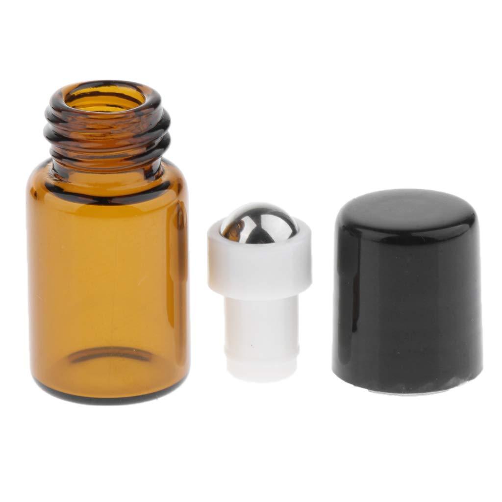 3ml 2ml sharprepublic 20pcs Flacon Vide Roll-on Bille en M/étal pour Voyage 1ml 1 ml