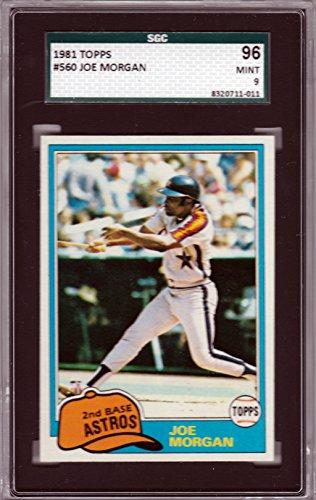 1981 Topps Baseball #560 Joe Morgan Houston Astros PSA ~SGC GRADED~ 9 MINT! (Joe Morgan Astros)