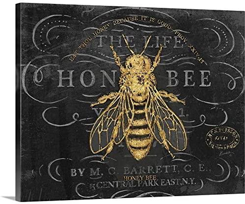 Honey Bee Canvas Wall Art Print
