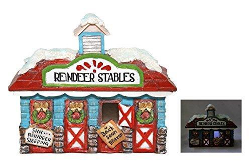 LED Miniature Reindeer Stables Fairy Garden Christmas Figurine