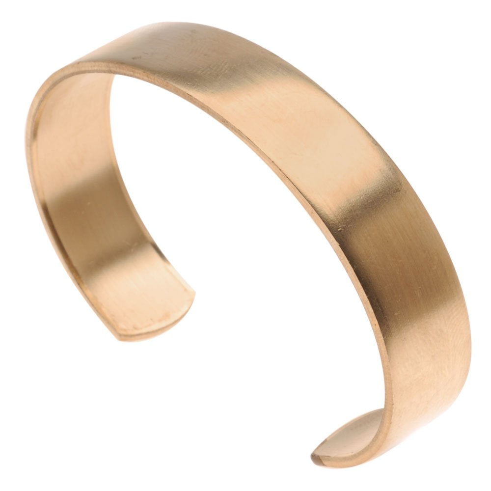 12.7mm Beadaholique 1 Piece Solid Brass Flat Cuff Bracelet Base