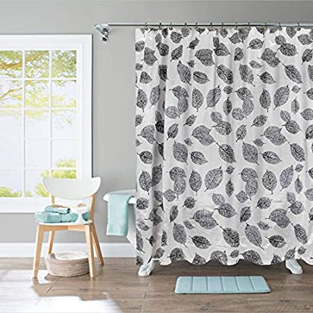 SC-3004-GY Ample Decor Designer Shower Curtain Classic Forest Style Bathroom Decoration Decor Peculiar Design Hand Drawing Effect Fabric Shower Curtains Grey