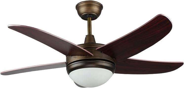 tropicalfan LED ventilador de techo con 1 cristal de diseño ...