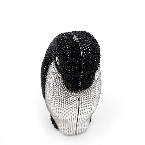 cadre de sac sac luxe main B pingouin métallique préféré fête Mesdames Strass de de Pochette à soirée mariage Z4pxqnHw