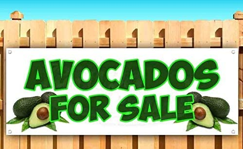 30 in 24 30 lb Advertising Flag Front Banner Business Sign Retail Store Avocados for Sale Banner Vinyl Weatherproof 15 20 18