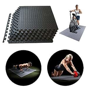 Amazon Com Exercise Floor Mat Gym Flooring Fitness Eva
