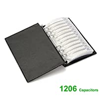 OneSky-UK [1206] SMD Capacitor assortiti cartella (0.5pf ~ 1UF) [80 Value x 50PCS] chip condensatori assortimento booklet [4000 pcs]