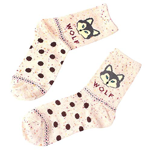Womens Cute Design Casual Cotton Crew Socks Womens Animal Printed Casual Socks Christmas Gift Socks ☀️ HunYUN☀️
