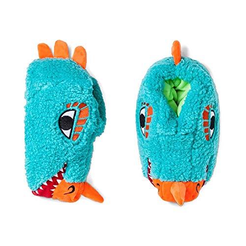 Cat & Jack Boys Lizard Head Bootie Slippers - Large (4/5)