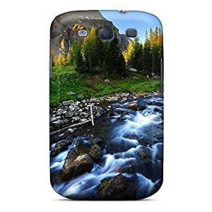 First-class Case Cover For Galaxy S3 Dual Protection Cover Beautiful River Stream
