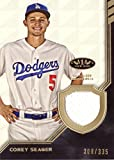 #5: 2018 Topps Tier One Relics #T1R-CSE Corey Seager Game Worn Dodgers Jersey Baseball Card - Only 335 made!