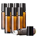 Aguder Essential Oils Roller Bottles, 8 Pack 10ml (1/3 oz) Amber...