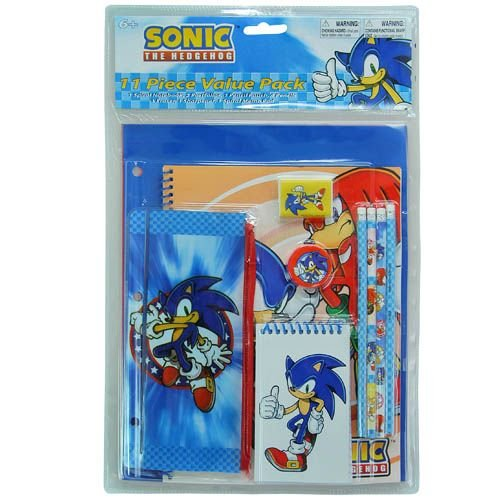 Sonic the Hedgehog 11pc Value Pack Stationary Set (Value Stationary)
