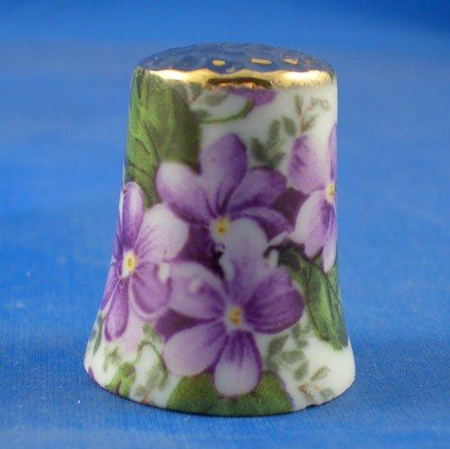 Ditale Chintz in porcellana China, da collezione, motivo: viole Birchcroft China