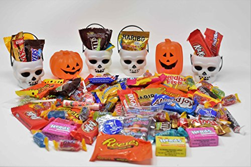 Halloween Gift Candy & Chocolate Variety Assortment Buckets (1 LB) - Perfect Halloween Gift for Kids