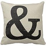 Ampersand pillow case 16x16