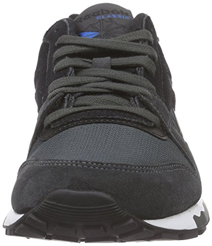 Reebok Gl 6000 Athletic, Zapatillas de Deporte para Niños Negro / Azul / Blanco (Gravel / Black / Blue Sport / White)