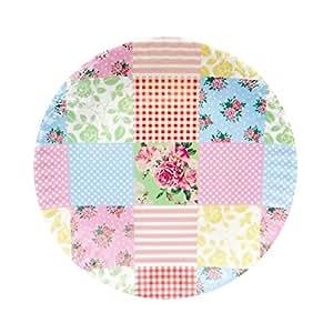 Patchwork Melamine Plates - Set of 4