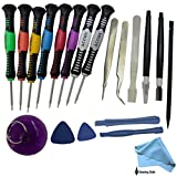 ACENIX® 20 in 1 Repair Opening Tools Kit Screwdriver Set For iPhone 3,3GS,4,4S,5,5S,5C iPad 1,2,3,4 iPod iTouch PSP NDS & HTC , All Types Of Mobile Phones Universal Tool Kit