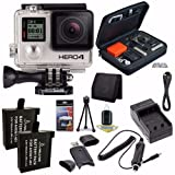 GoPro HERO4 Black Edition 4K Action Camera Camcorder + Battery + Charger + Bundle 2