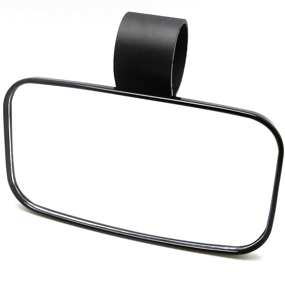 "UTV Rear View Mirror for 1.5'' -1.75""- 2'' Roll Cage with ShatterProof Tempered Glass for Polaris Ranger, RZR Can Am Commander, Maverick X3 Yamaha Viking, Rhino, Honda, Gator Offroad Mirrors"